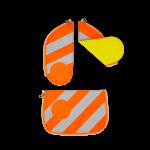 ergobag Schulzubehör Zip-Set mit Reflektorstreifen, 3-tlg. ab 2019 Orange jetzt online kaufen