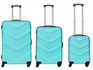 Packenger Brooklyn Bannisters Koffer 3er-Set Türkis jetzt online kaufen