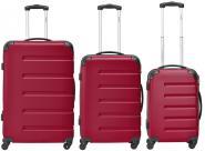 Packenger Marina Koffer 3er-Set M, L + XL Rot jetzt online kaufen