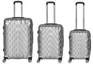 Packenger Atlantic Set 3-tlg. 4 Rollen, Trolley M / L / XL  52-68-76 cm silber jetzt online kaufen