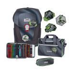 Scout Sunny II Superflash 4-teilige Schulranzen-Set Black Spider jetzt online kaufen