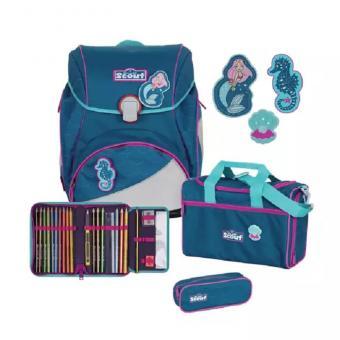 Scout Alpha 4-teilige Schulranzen-Set, mit  Funny Snaps® Mädchen-Motive 2020/2021 Mermaid