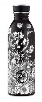 24Bottles® Urban Bottle Floral 500ml Noir