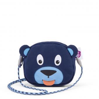 Affenzahn kleine Tasche Kinderportemonnaie Bär Blau
