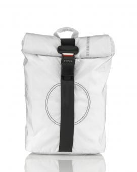 Airpaq 2.0 Unicolor Rolltop-Rucksack mit Laptopfach Weiss Uni