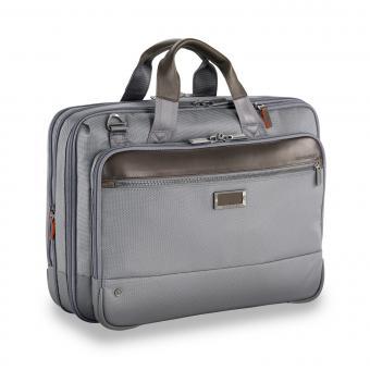 """Briggs & Riley Business Case Medium Expandable Brief 15.6"""" grey"""