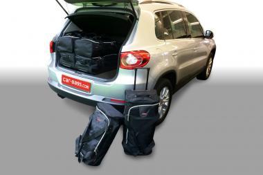 Car-Bags Volkswagen Tiguan Reisetaschen-Set (5N) 2007-2015 (hoher Ladeboden) | 3x60l + 3x37l
