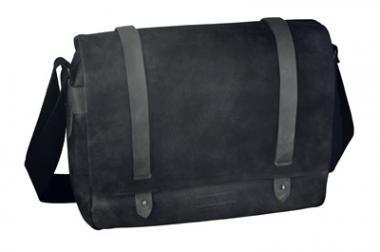 "d&n Basic Line Messenger Bag mit Laptopfach 15"" - 5226 schwarz"