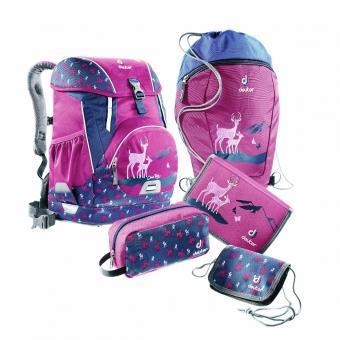 Deuter School OneTwo Set - Sneaker Bag 5-teilig magenta-deer