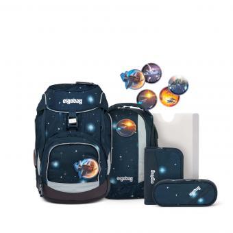 ergobag pack GALAXY GLOW-Edition, Schulranzen-Set, 6-tlg. KoBärnikus Glow