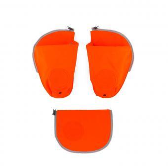 ergobag Schulzubehör pack Seitentaschen Zip-Set, 3-tlg. 2019 und älter orange