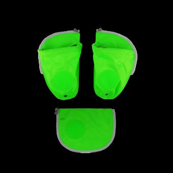 ergobag Schulzubehör Seitentaschen Zip-Set, 3-tlg. ab 2020 Grün