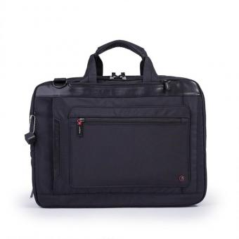 "Hedgren Zeppelin Revised EXPLICIT 3-way Bag 15"" erweiterbar black"