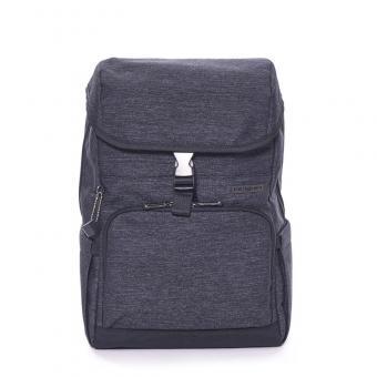 """Hedgren Walker Premix Backpack with Flap 15"""" Asphalt"""