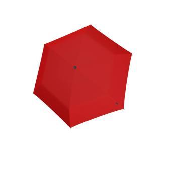 Knirps AS.050 Slim Small Manual Flacher Taschenschirm Red