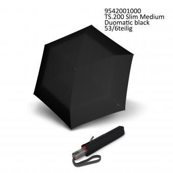 Knirps TS.200 Slim Medium Duomatic Automatischer schmaler Taschenschirm black