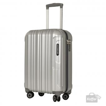 March Cosmopolitan Special Edition 4-Rollen-Trolley S silver brushed alu look
