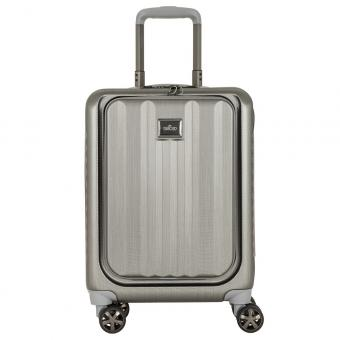 March Fly Cabin Business Trolley silver brushed