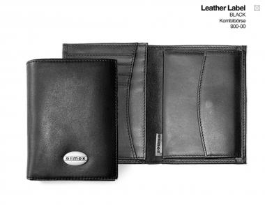 oxmox Leather Kombibörse Black