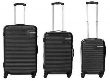 Packenger Hudson Bannisters Koffer 3er-Set Schwarz
