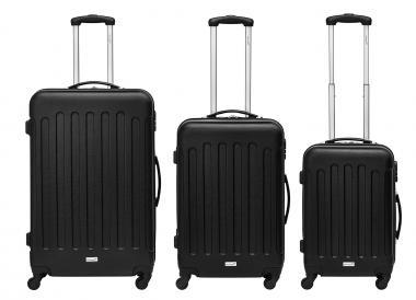 Packenger Travelstar Koffer 3er-Set M, L + XL Anthrazit