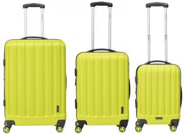 Packenger Velvet Hartschalenkoffer 3er-Set Gelb
