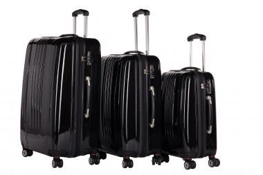 Packenger Stone Koffer 3er-Set M, L + XL Schwarz