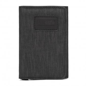 pacsafe RFIDsafe Trifold Geldbörse mit RFID-Schutz Carbon
