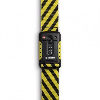pacsafe Strapsafe 100 Gepäckband mit TSA-Schloss Yellow/Black
