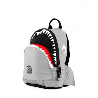 Pick & Pack Shark Shape Backpack S Grey