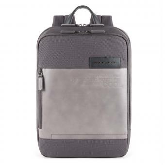 Piquadro Ade Laptoprucksack aus recyceltem Stoff grau