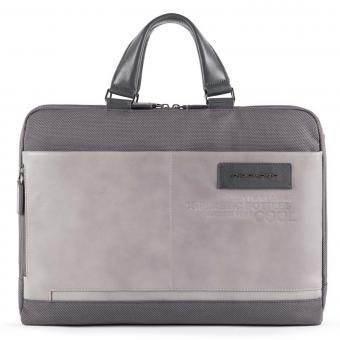 "Piquadro Ade Laptoptasche 15,6"" aus recyceltem Stoff, mit iPad®-Fach grau"