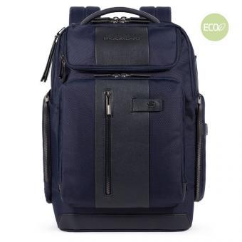 """Piquadro BagMotic Rucksack mit Reißverschlusstasche oben 15,6"""" Blau"""