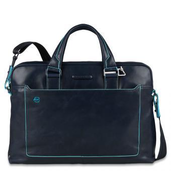 Piquadro Blue Square Kurzgriff-Laptoptasche mit iPad®-Fach, Schirm/ Flaschentasche Nachtblau