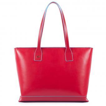 Piquadro Blue Square Shopper mit iPad-Fach cherry red