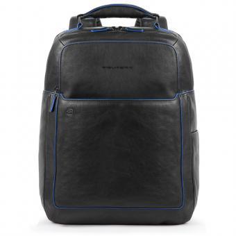 Piquadro Blue Square Special Fast Check Laptoprucksack mit iPad-Fach schwarz