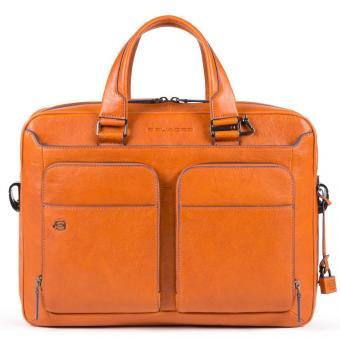 """Piquadro Blue Square Special Kurzgrifflaptoptasche 14"""" Orange"""