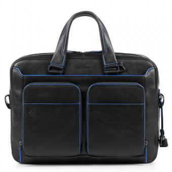 "Piquadro Blue Square Special Kurzgrifflaptoptasche mit iPad 10,%""/9,7""-Fach schwarz"