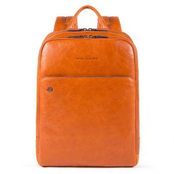 Piquadro Blue Square Special Laptoprucksack mit iPad®-Fach, Flaschentasche Orange