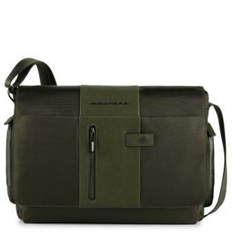 """Piquadro Brief Kuriertasche mit Laptopfach 14"""" mit CONNEQU-Tasche grün"""