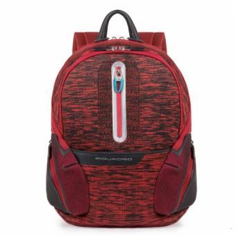 "Piquadro Coleos Active Laptop-Rucksack 13.3"" mit USB-Anschluss Rot"