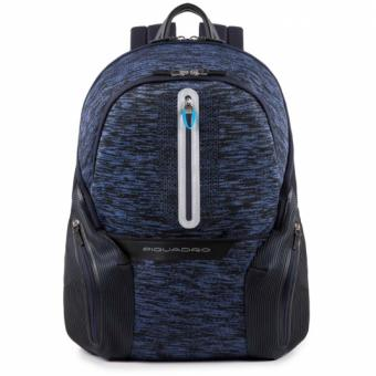 Piquadro Coleos Active Laptop-Rucksack 14´´ mit Tabletfach und USB-Anschluss Blau