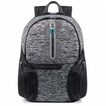 Piquadro Coleos Active Laptop-Rucksack 14´´ mit Tabletfach und USB-Anschluss Grau