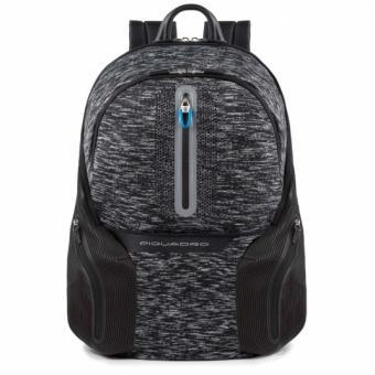 Piquadro Coleos Active Laptop-Rucksack 14´´ mit Tabletfach und USB-Anschluss Schwarz