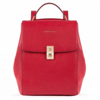 Piquadro DF Ausdehnbarer Damenrucksack mit iPad®Pro 12,9''- rot