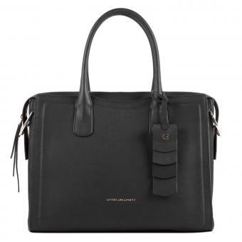 """Piquadro Gea Damenlaptoptasche 11"""" mit Anti-Stoss Schutz schwarz"""