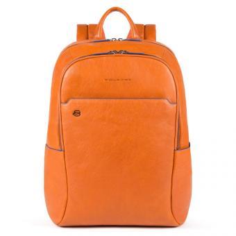 Piquadro Blue Square Special Großer Laptoprucksack mit iPad®-Fach Orange