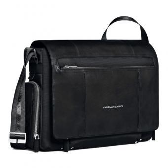 "Piquadro Link Laptoptasche im Messengerstil 15"" black"