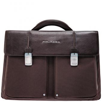 Piquadro Link Laptoptasche mit zwei Fächern dark brown