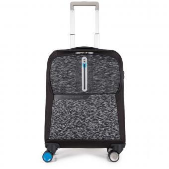 Piquadro BagMotic Laptop Kabinentrolley mit USB-Anschluss Schwarz